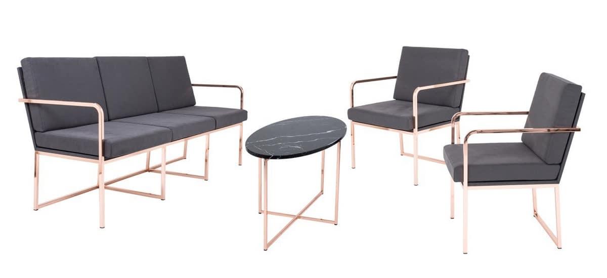 Art.Grace armchair, Stylish modern armchair for waiting areas