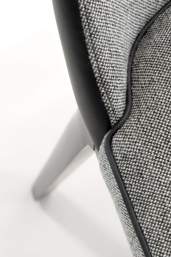 ASTON LOUNGE CHAIR 062 P, Armchair with pleasantly sinuous shapes