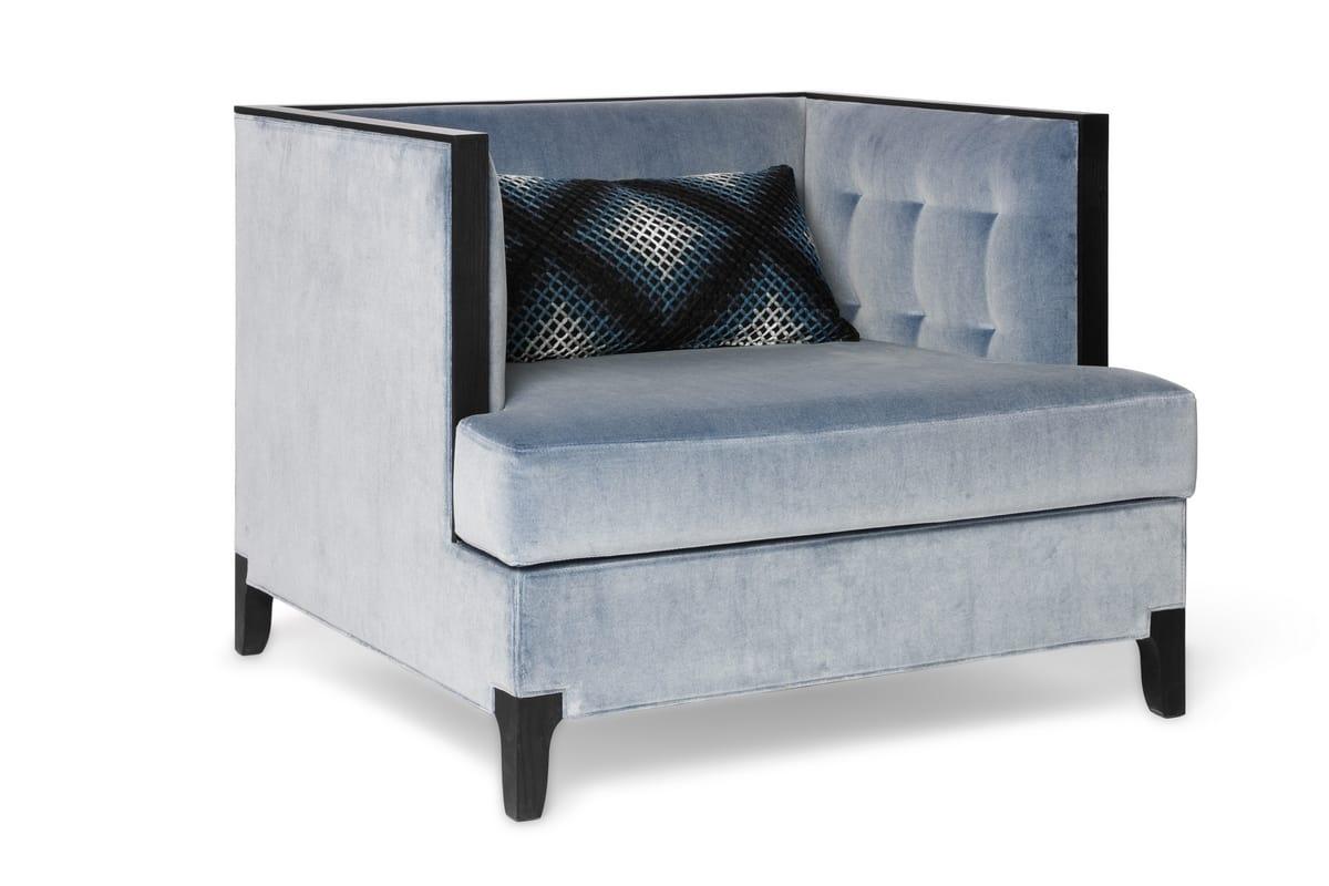 ATTESA Armchair, Modern armchair with deep seat