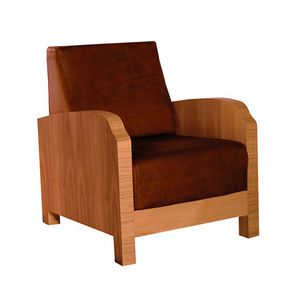 Aurelia 3878, Armchair with fine veneer on the armrests