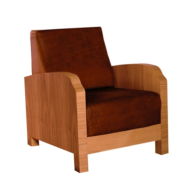 Aurelia 3878, Armchair with fine veneer on the armrests