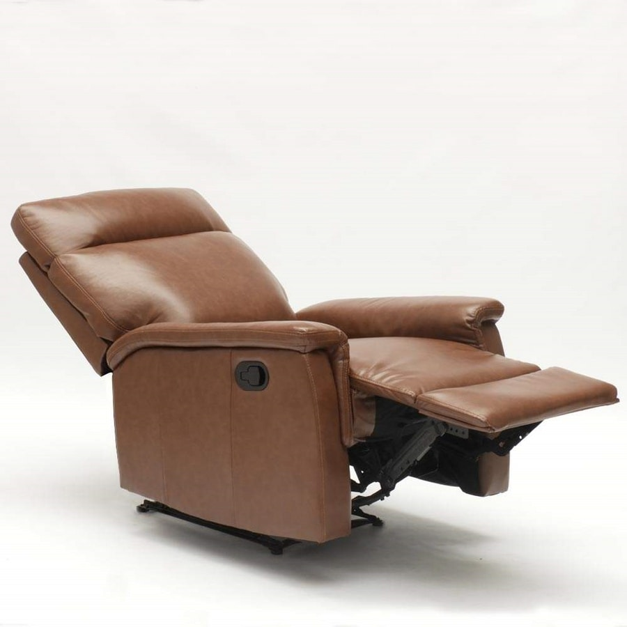 AURORA Relax Armchair with Footrest made of High-Quality Faux Leather - SR642PUM, Reclining relax armchair