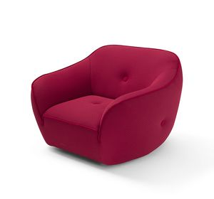 Bebop, Armchair with soft and rounded shapes