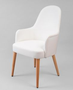 BS442A - Armchair, Faux leather armchair with high back