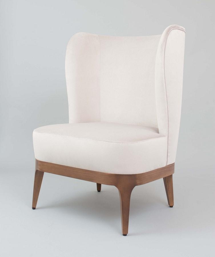BS452A - Armchair, Armchair with high back