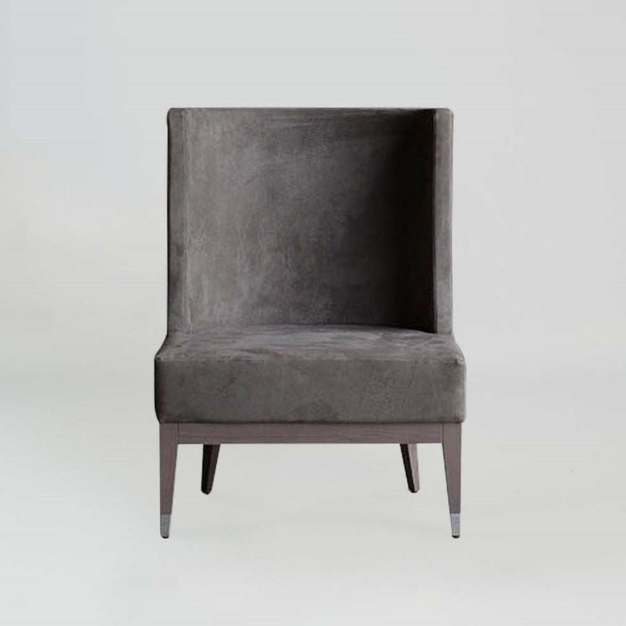 BS601A – Armchair, Modern armchair with high back
