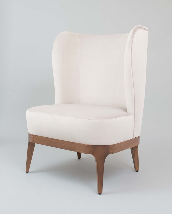 C63, Bergere armchair with high backrest