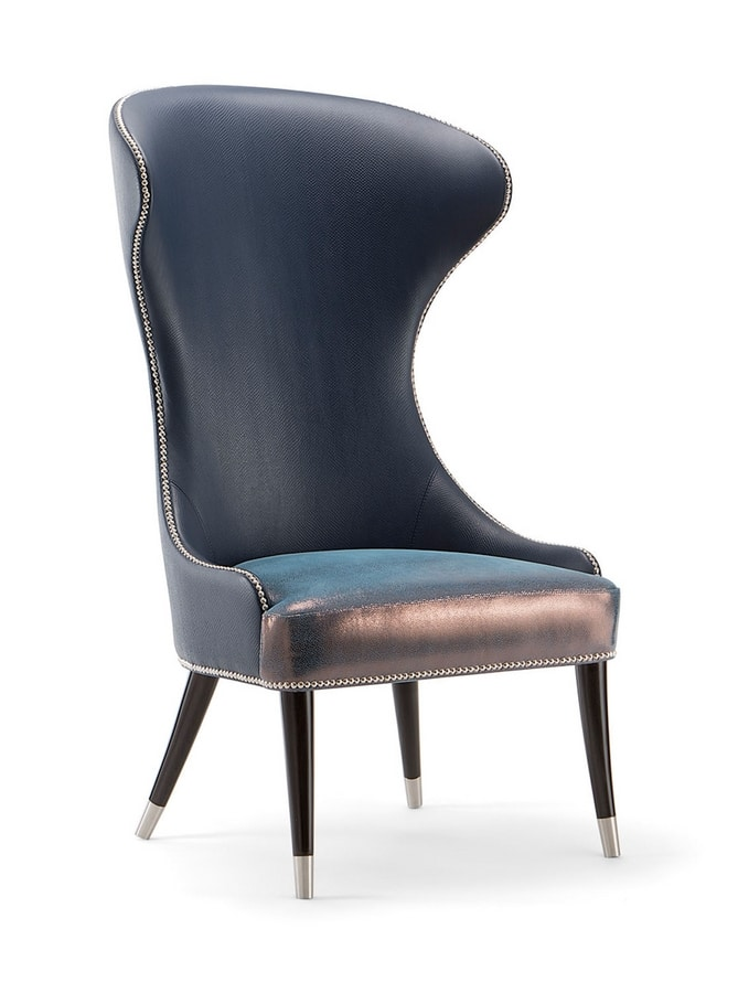 CAMELIA LOUNGE CHAIR 051 PA, Armchair with high back