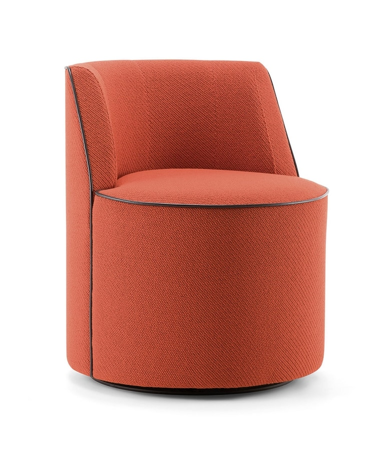 CARRIE LOUNGE CHAIR 056 P G, Armchair with swivel base