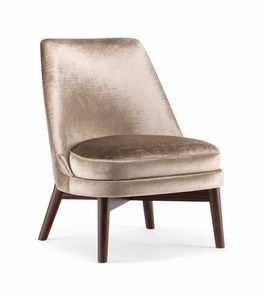CELINE LOUNGE CHAIR 077 P, Lounge chair with high back