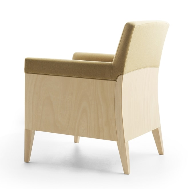 Charme 02541, Lounge armchair ideal for waiting areas and hotel