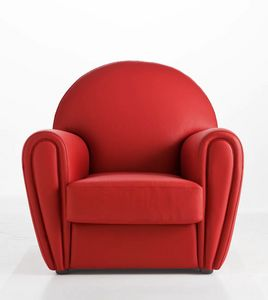 CINDY, Upholstered leather armchair