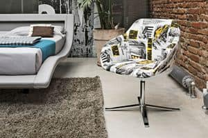 CITYMAP PT100, Armchair with fabric suitable for lofts and apartments