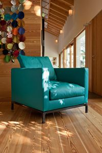 COLORADO, Modern fabric armchair