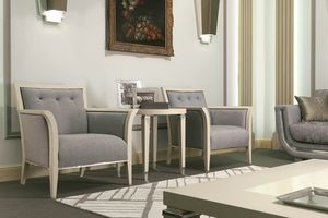 Dahlia 367PSal, Armchair in wood, upholstered