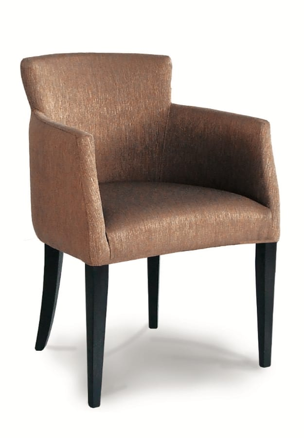 DALLAS P, Armchair with legs in painted wood
