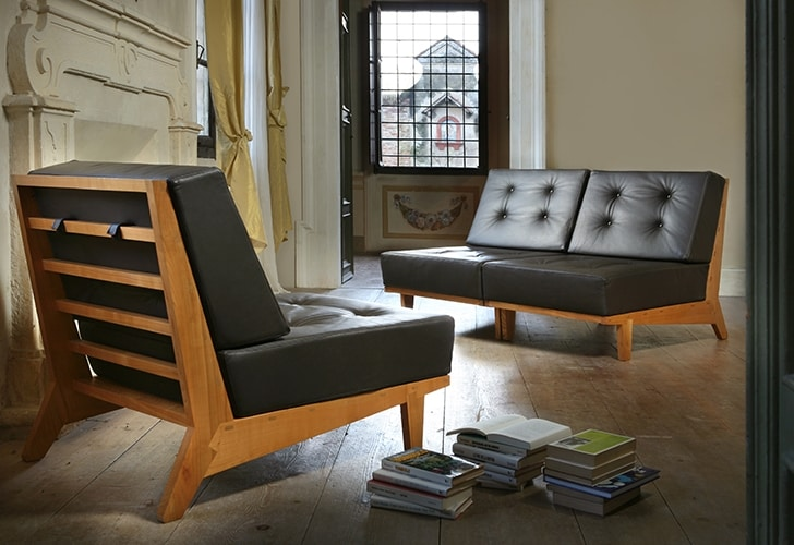 Daphne 3887, Armchair with removable padded cushions
