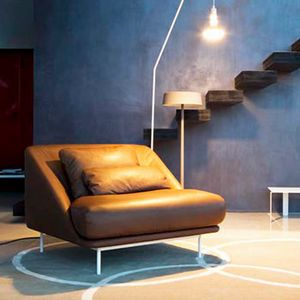 Daytona armchair, Armchair with sinuous shapes, for living room and relaxation areas