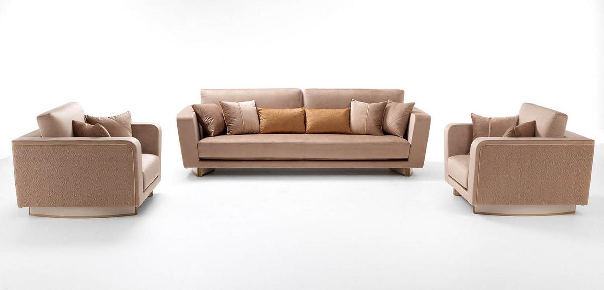 Diamond armchair, Armchair upholstered in velvet or leather