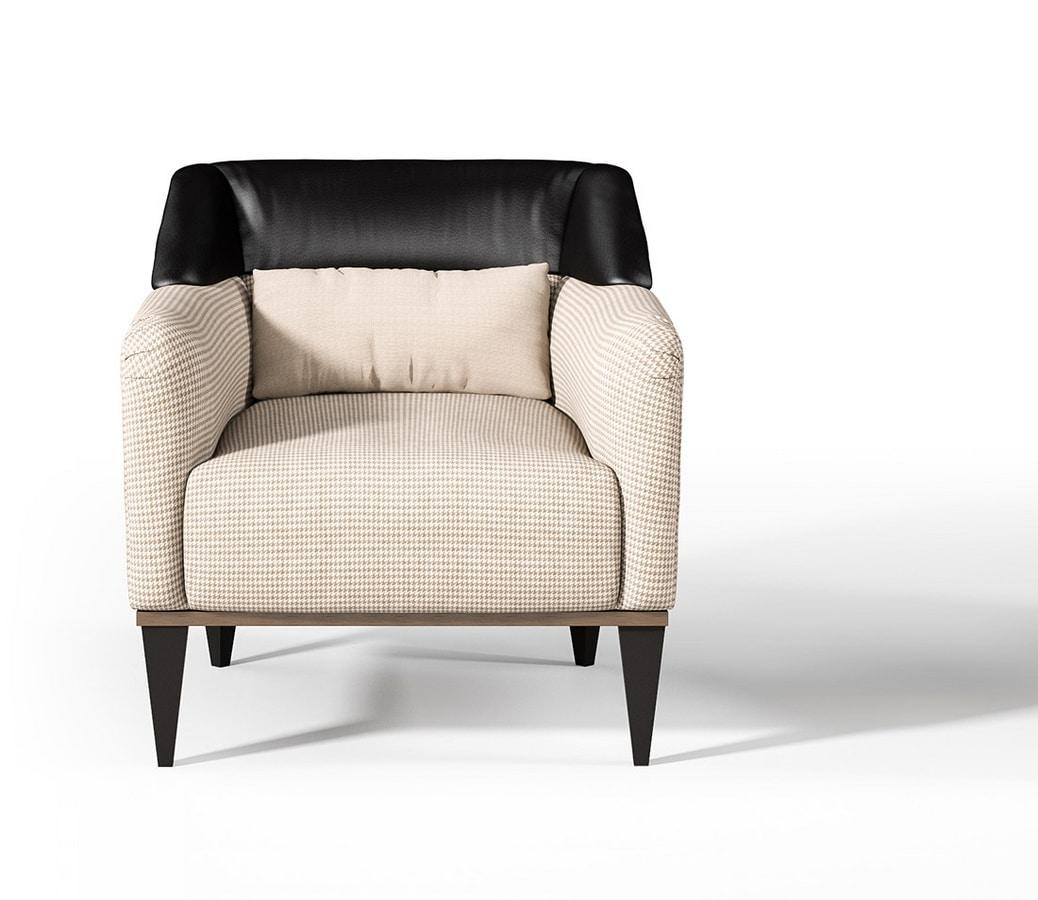 Eclipse Art. E234, Armchair with barrel armrests