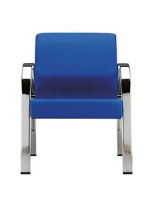 Effisia cromo 901, Armchair for waiting rooms with chromed structure