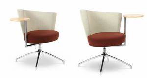 ELIPSE 1TR, Armchair with circular seating, with integrated table