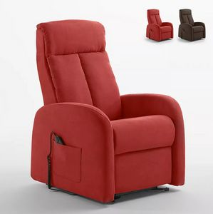 Electric recliner fabric armchair dual-motor Lift System Taylor PR331F, Electric relax armchair