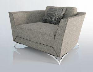 Eliot, Armchair with rigorous shapes