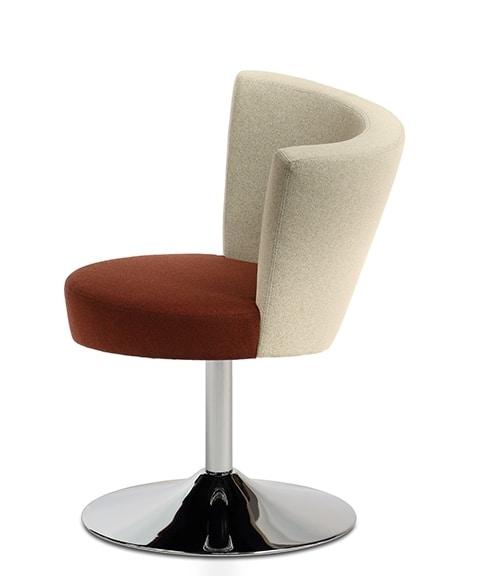 ELIPSE 10, Armchair on chrome base