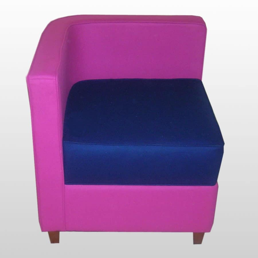 Elisabeth, Chair with simple lines, leather covering
