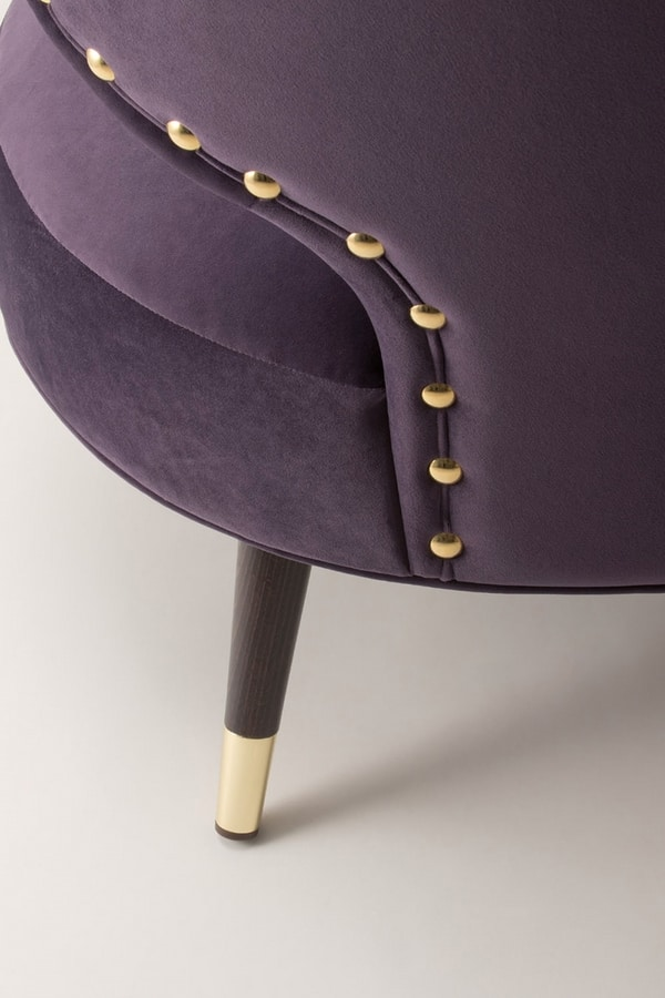 ELLE LOUNGE CHAIR 064 P, Armchair for the lounges of boutique hotels