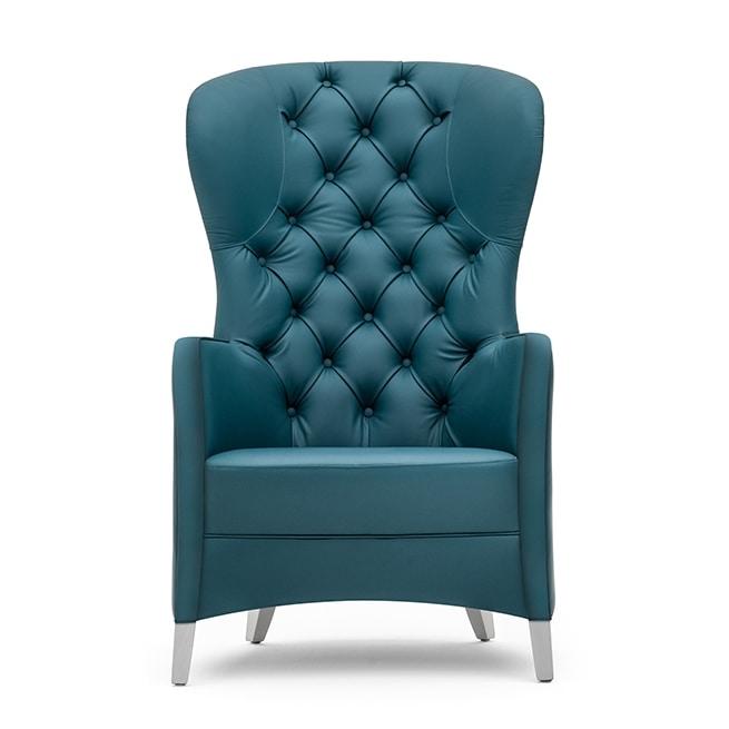 Euforia 00145K, Capitonné armchair with high backrest