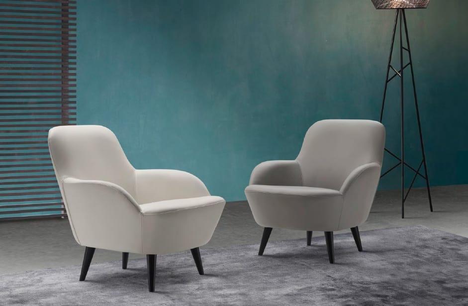 Frida, Elegant leather armchair