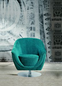 Frida swivel, Swivel armchair with round base