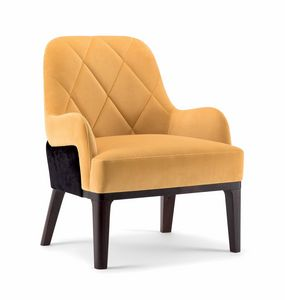 GILL LOUNGE CHAIR 070 P, Armchair with a deep seat
