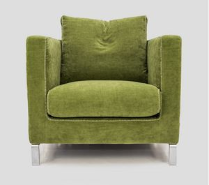 Gray, Armchair with high arms