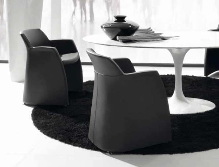 Grey-S, Elegant chair for meeting room