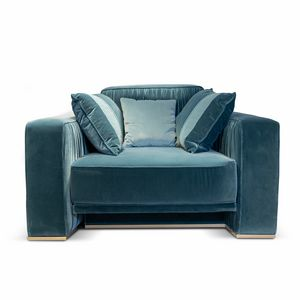 Herbin Art. 741-P, Elegant armchair with metal base