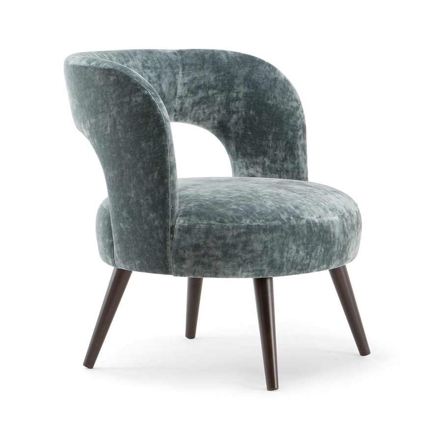 HOLLY LOUNGE CHAIR 065 P, Armchair with large seat