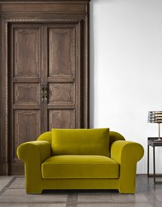Hypnose armchair, Armchair with completely removable fabric upholstery