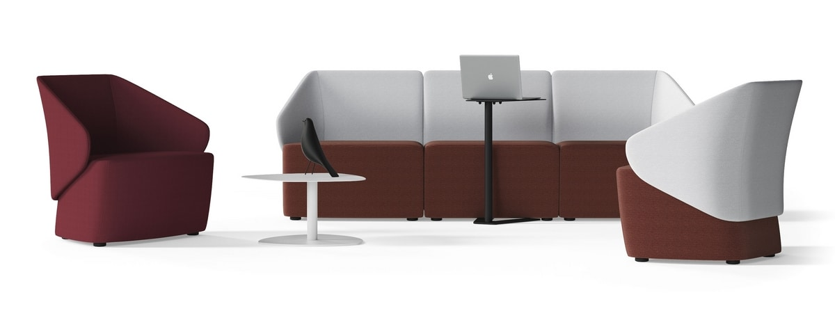 IKEBANA, Armchair with armrests for waiting rooms