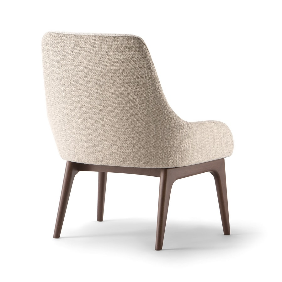 JO LOUNGE CHAIR 058 P, Armchair with elegant upholstery