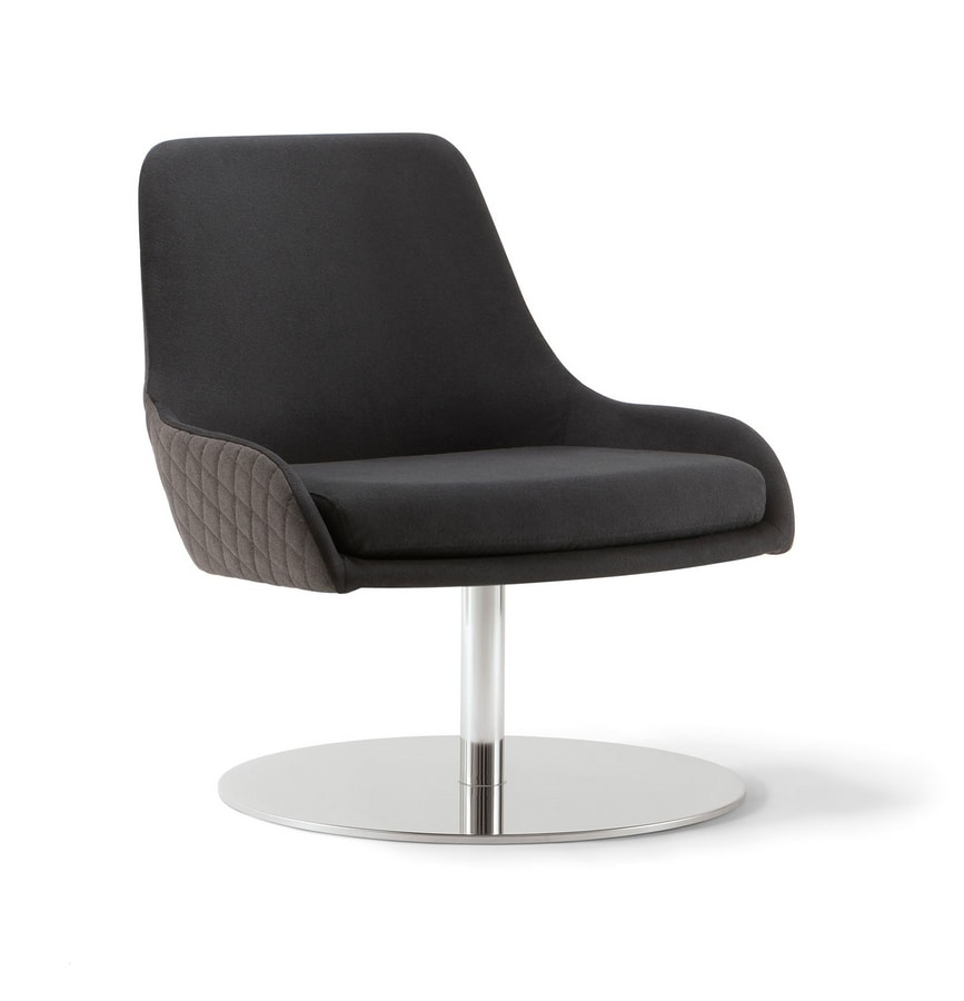 JO LOUNGE CHAIR 058 P F, Armchair with disc base