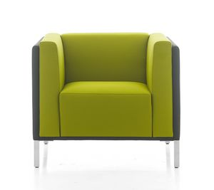 Kontex poltrona, Comfortable padded armchair for waiting room