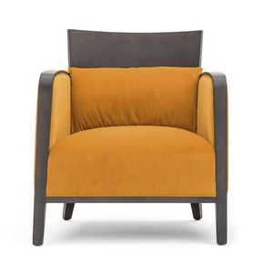 Logica 00942, Solid wood armchair for lounge areas