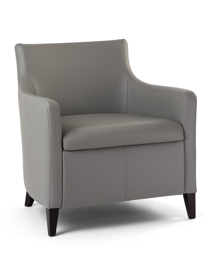 MADEIRA P LOUNGE 1, Armchair upholstered with wooden frame