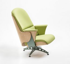 Milano, Armchair with swivel base