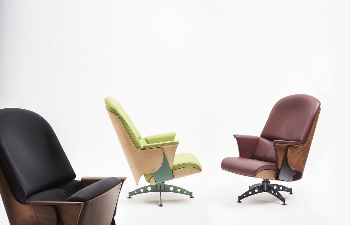 Milano lounge, Armchair with swivel base