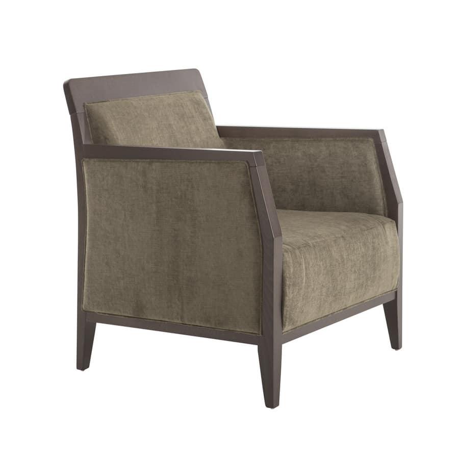 MP49EM, Fabric armchair for hotel