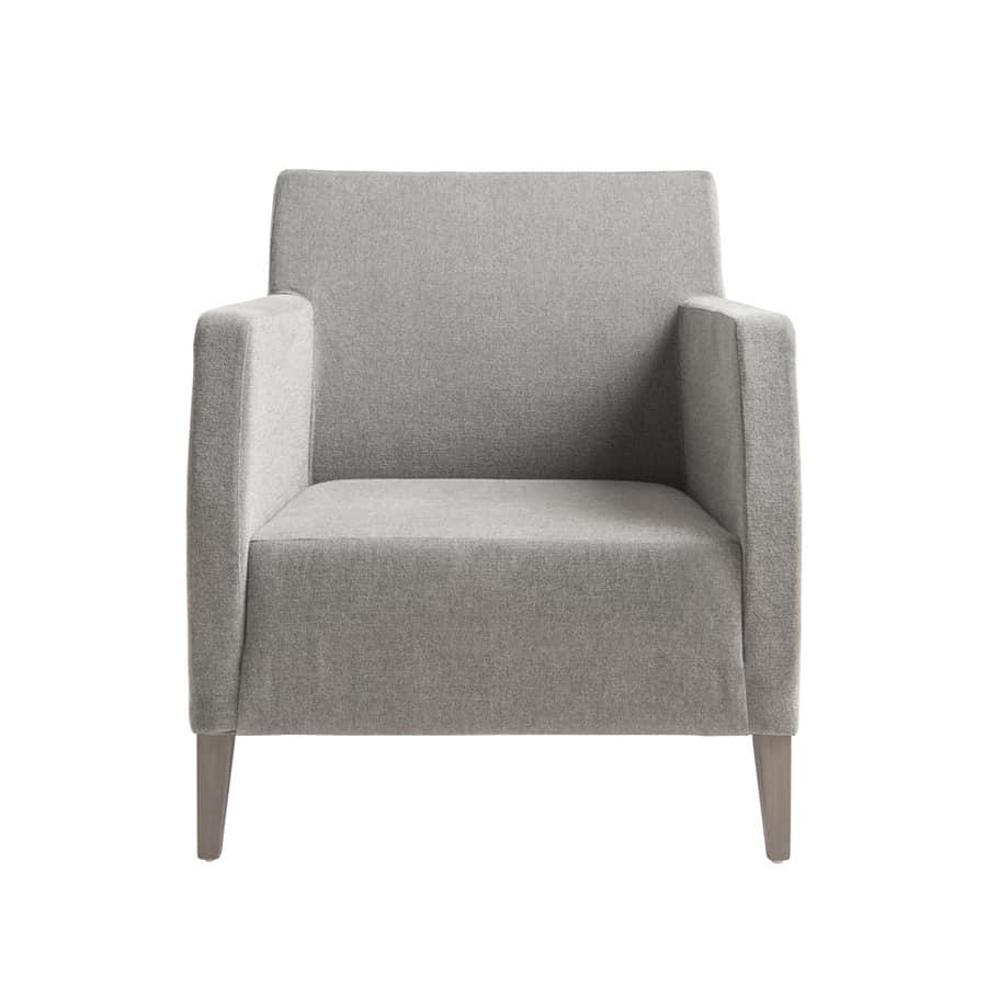 MP49SM, Elegant armchair for hotel reception